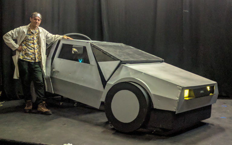Brisbane Arts Theatre fake prop DeLorean 1