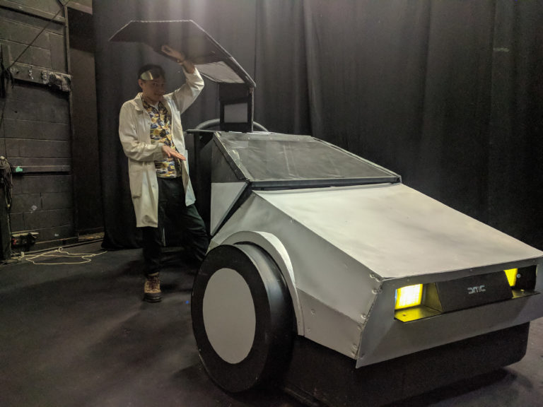 Brisbane Arts Theatre fake prop DeLorean 2
