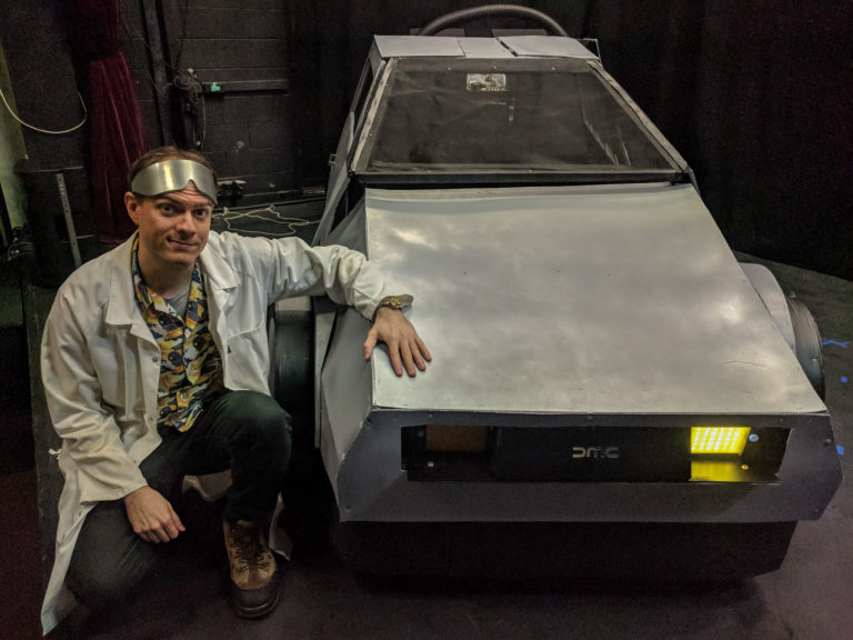 Brisbane Arts Theatre fake prop DeLorean 3