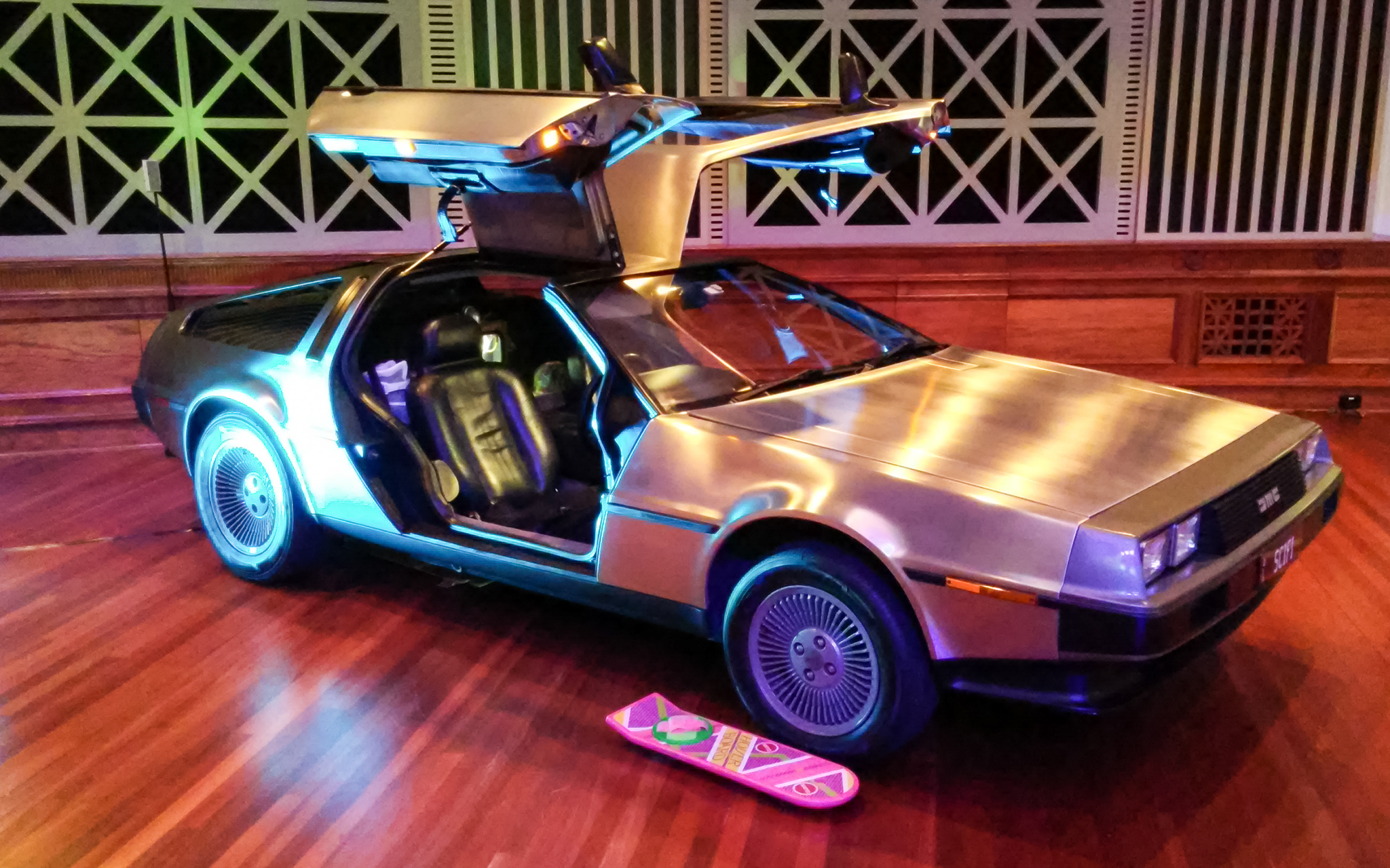 DeLorean Display Brisbane City Hall