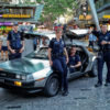 DeLorean in Queen St Mall, Brisbane for Blue World Order