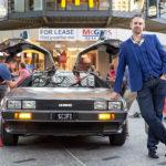 my DeLorean at Queen St Mall in Brisbane, Australia