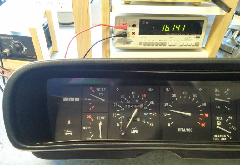 DeLorean Voltage Gauge Calibration 2