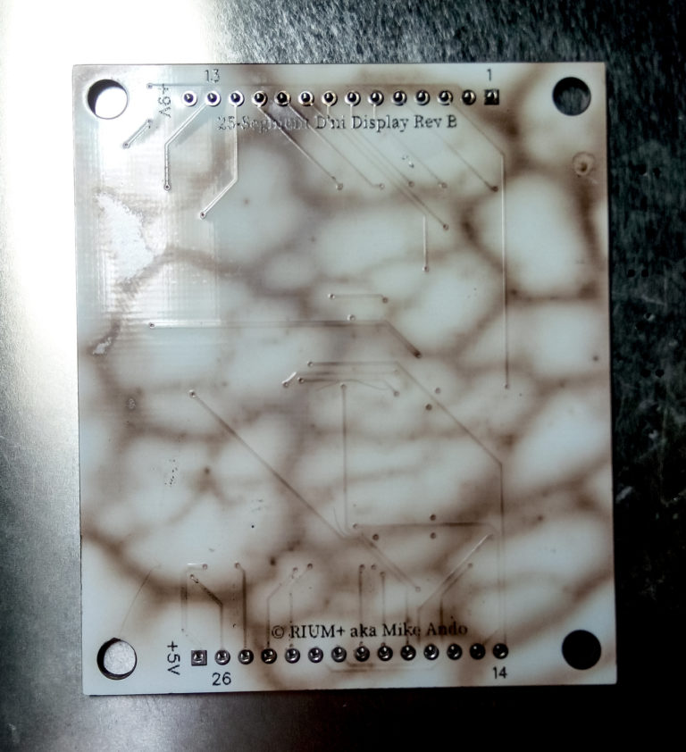 Failed SMD reflow attempt resulting in a burnt board