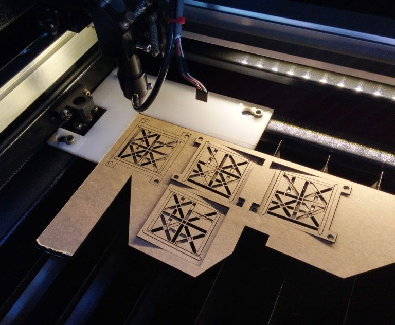 Laser-cutting D'ni digits out of acrylic