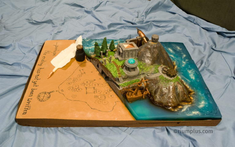 Myst Island Cake - side view