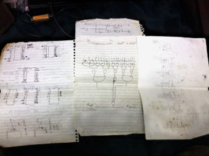 My original digital Myst clock design docs from 2002