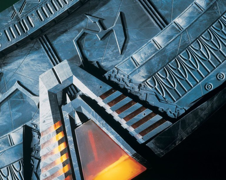 Close-up of the Stargate showing its chevrons
